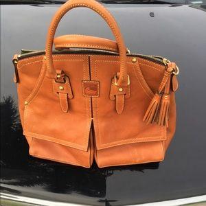 Dooney & Bourke Big Tan Florentine Leather Clayton